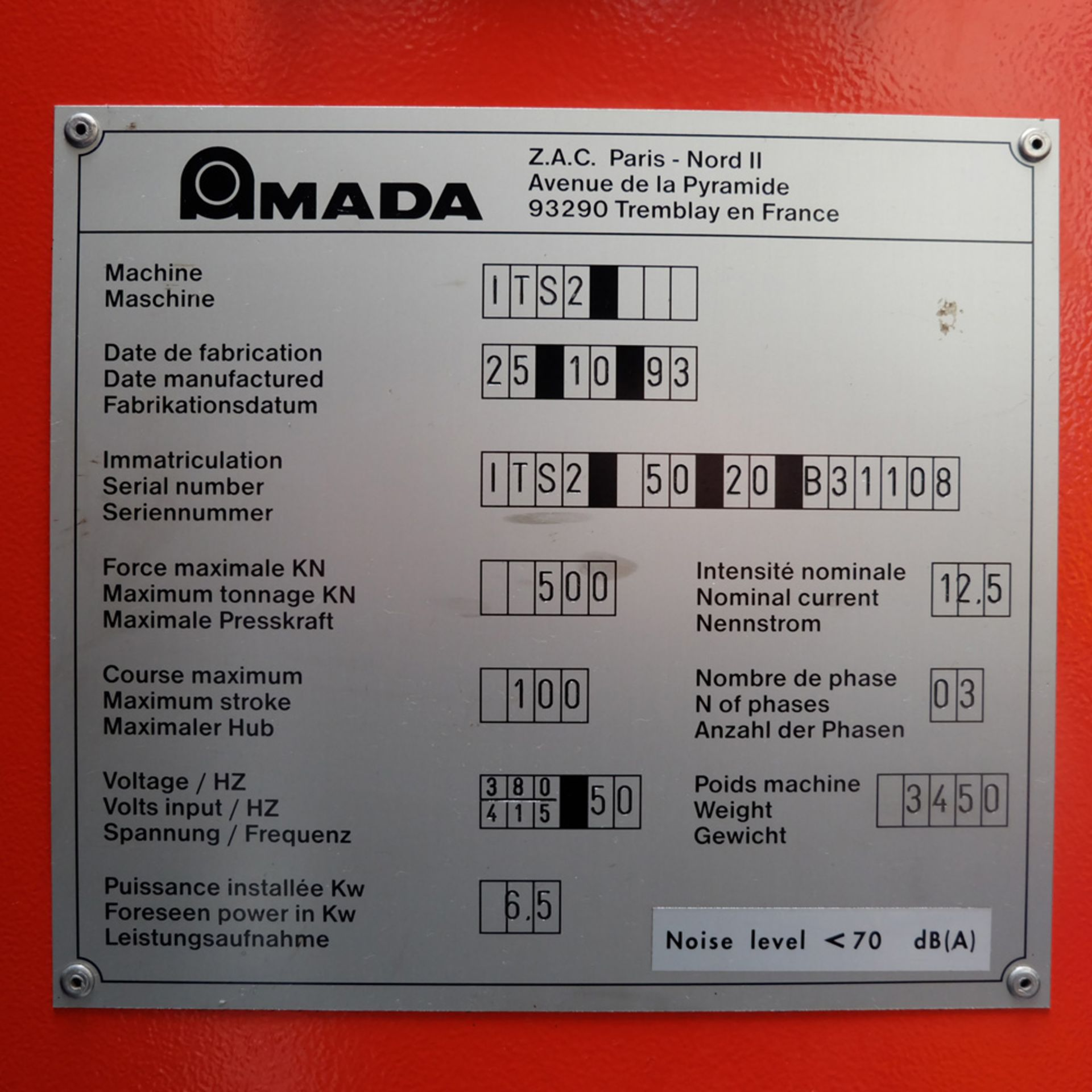 Amada Promecan ITS2 Hydraulic Upstroke Press Brake - Image 13 of 14