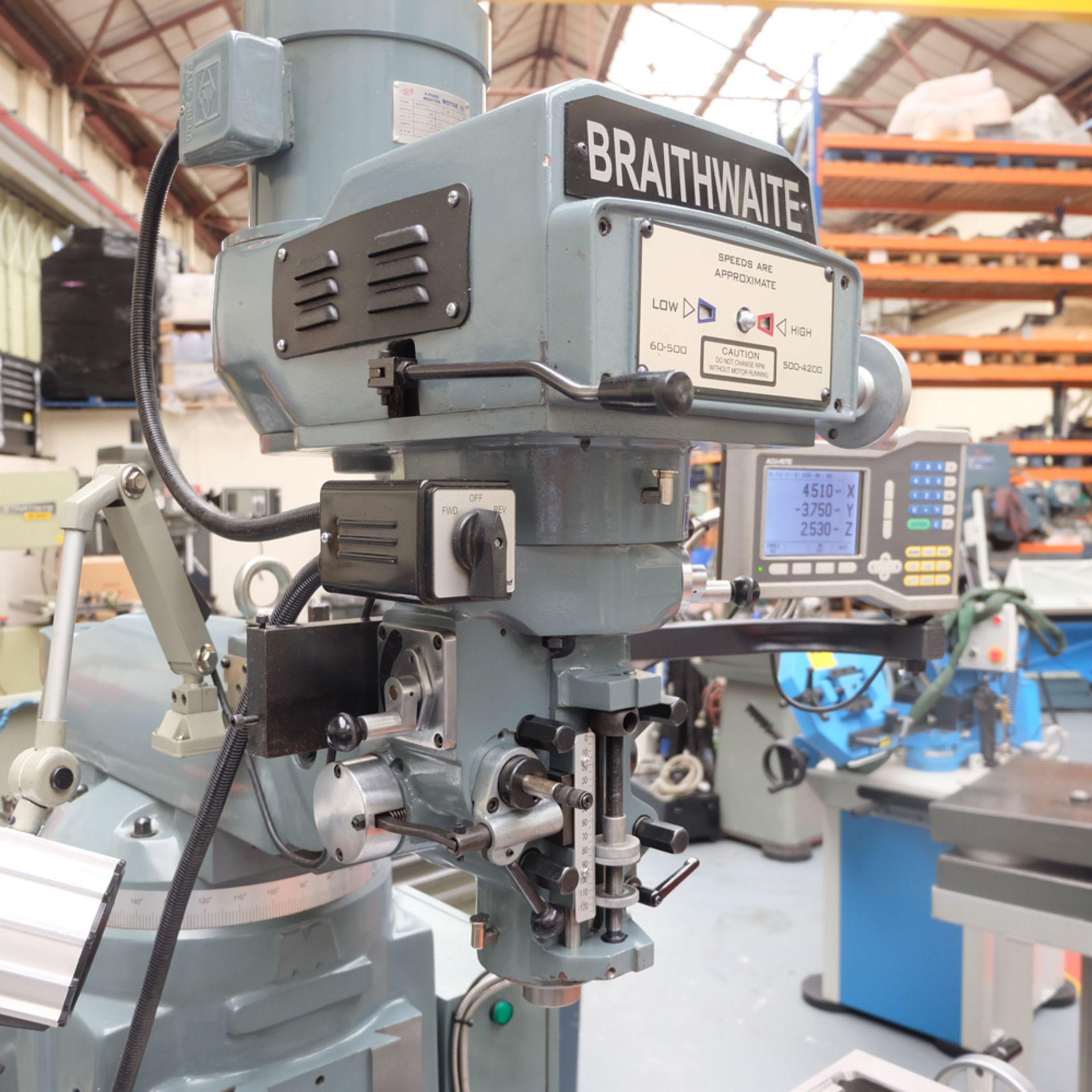 Braithwaite Model 6323B 3HP Vari Speed Turret Mill. - Image 3 of 20