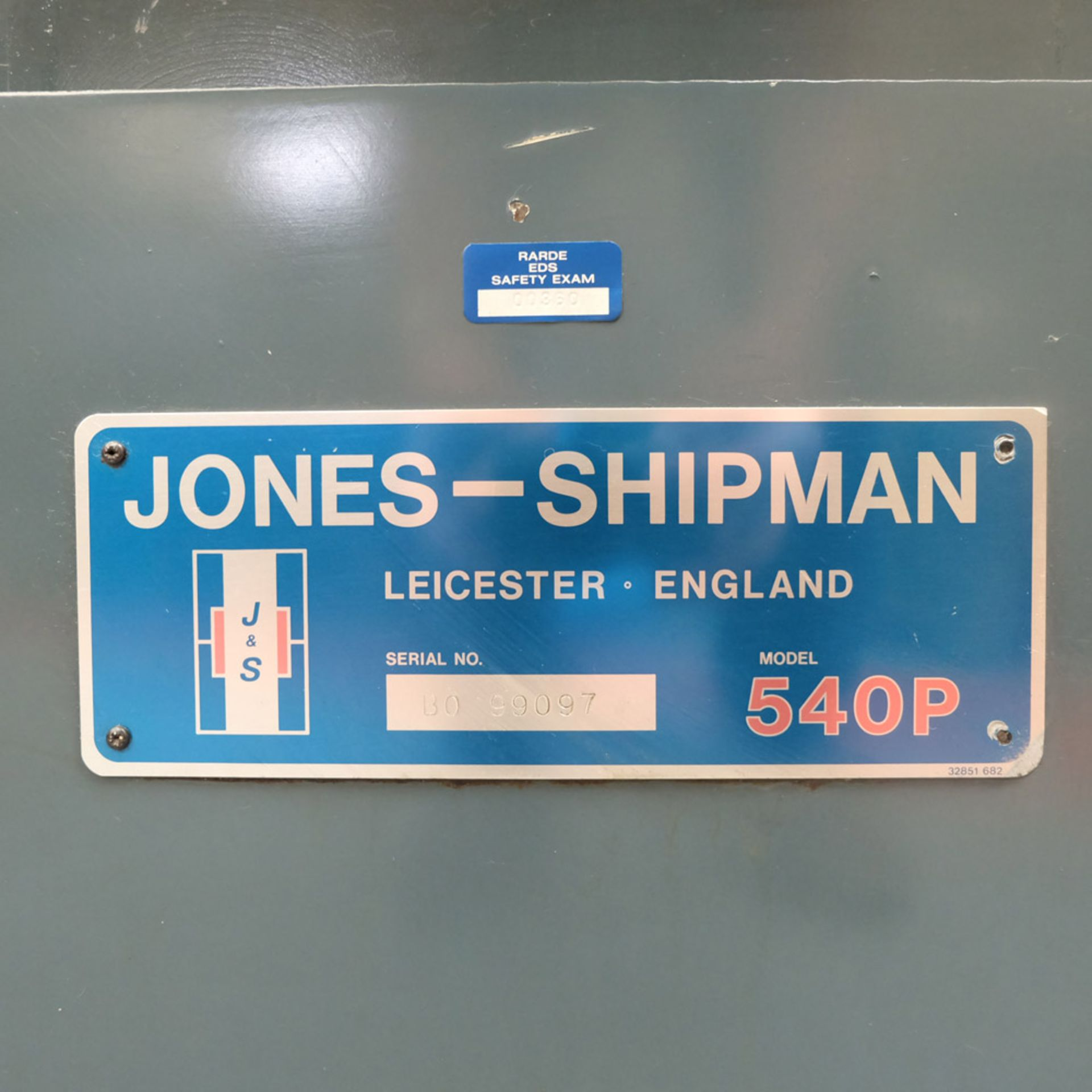 Jones & Shipman 540P Toolroom Surface Grinder. - Image 6 of 7