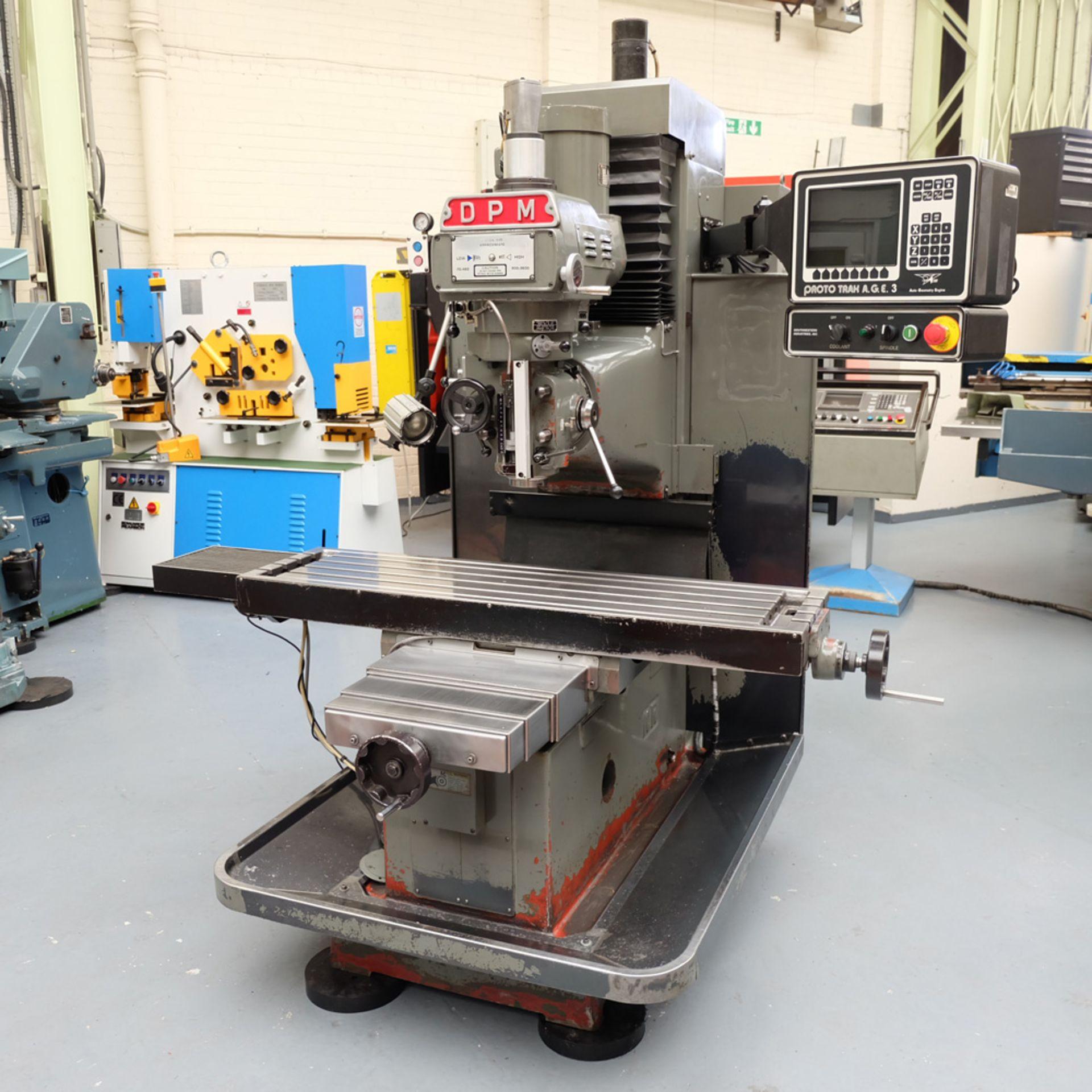 XYZ DPM Bed Mill with ProtoTRAK A.G.E. 3 Control. Prototrak A.G.E.