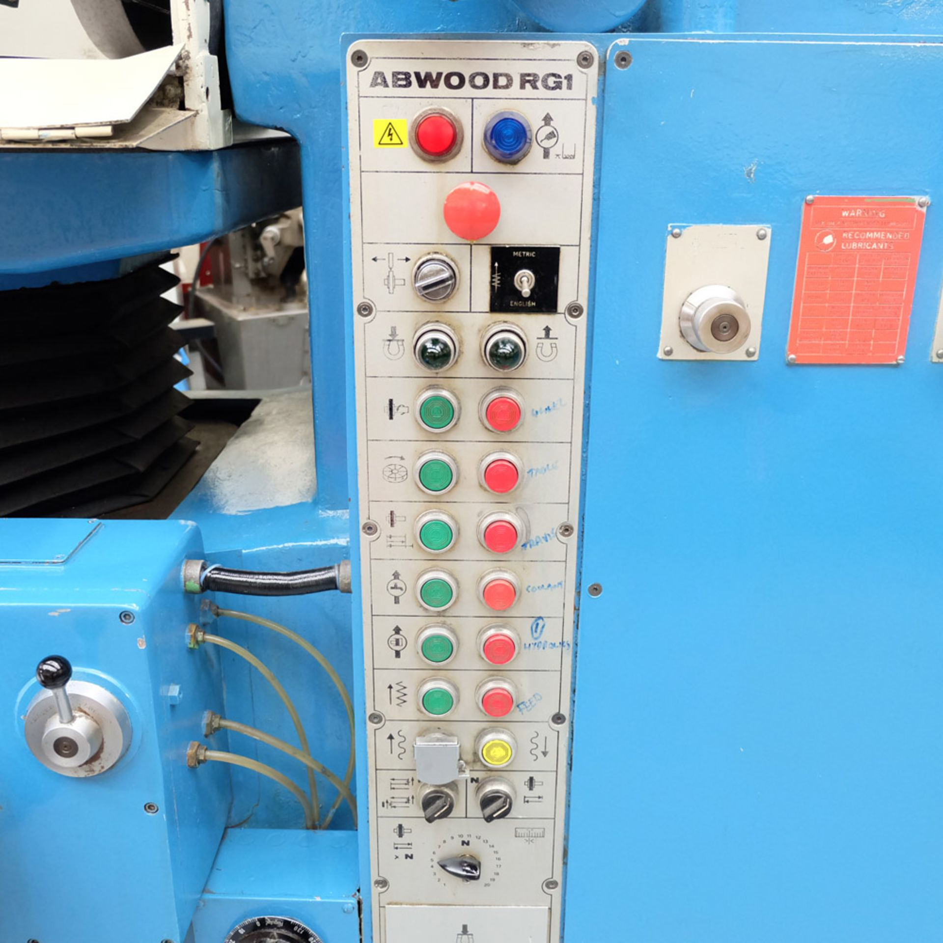 Abwood Type RG1 Tool Room Ring Grinder. Table Size 500mm. Magnetic Chuck 500mm. - Image 5 of 8
