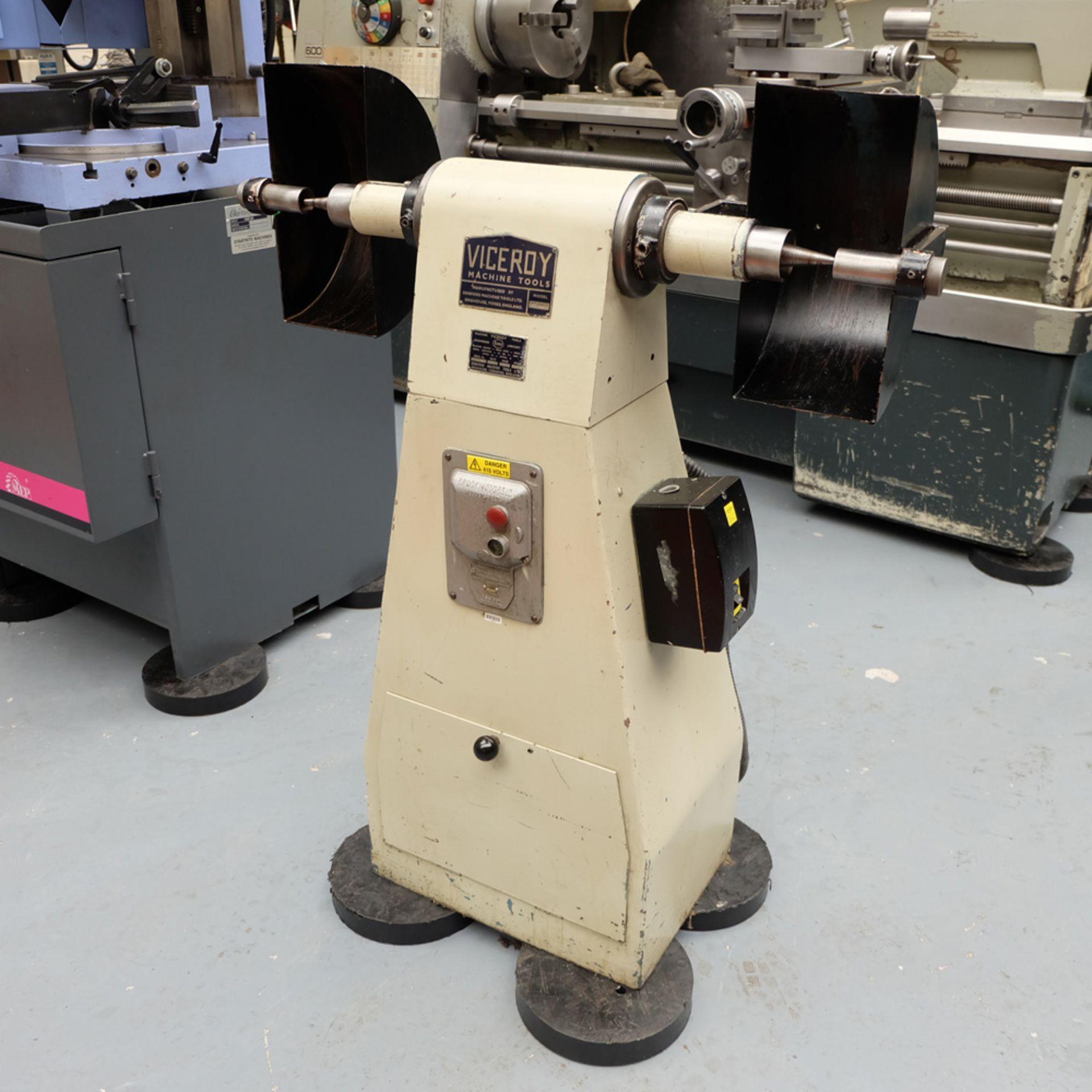 Viceroy Model TDS9 Double Ended Pedestal Polishing Machine. - Image 2 of 6