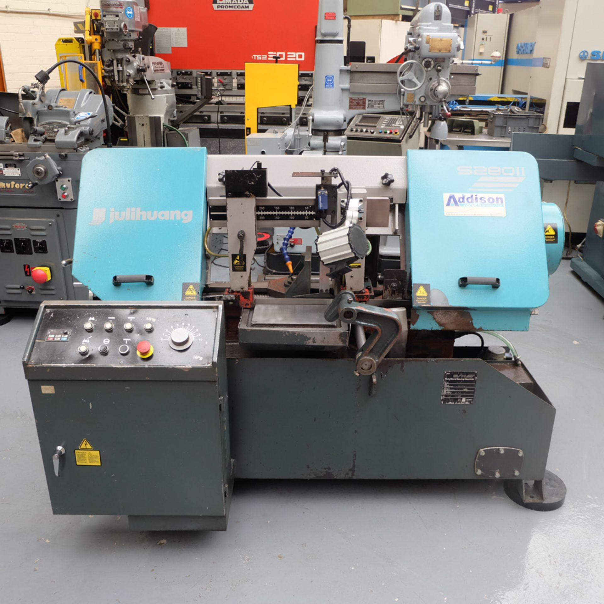 Julihuang By Addison Model S280 MKII Semi-Auto Horizontal Bandsaw.