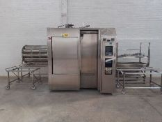Fedegari Autoclave Model FOF5, Year 2001 S/N: NA0692EG. Complete with parts trolley