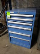 6 drawer tool cabinet. (Appears to be Lista) 33tall x 22wide x 29deep.