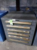 6 drawer Equipto tool cabinet. 34tall x 30wide x 28deep.