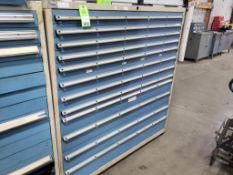 12 drawer Lista tool cabinet. 60tall x 56wide x 28deep.