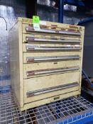 6 drawer tool cabinet. 31tall x 30wide x 28deep.