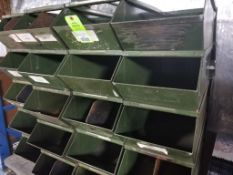 40 stacking metal parts bins.