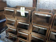 16 drawer metal parts bins.