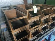 24 stacking metal parts bins.