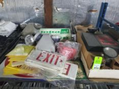 Pallet of assorted safety equipment.