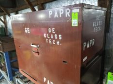 Heavy duty steel job box. 55tall x 60wide x 30deep.