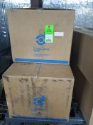 Pallet of assorted dust collector filters.