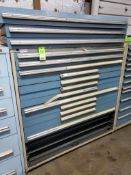 15 drawer Lista tool cabinet. 60tall x 60wide x 28deep. (Drawers need work)