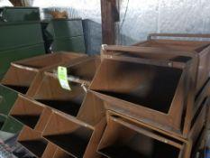 14 drawer stacking metal parts bins.