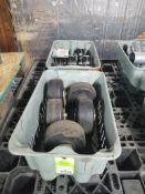 Qty 2 - Bins of large casters.