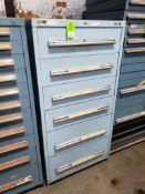 6 drawer Stanley Vidmar tool cabinet. 59tall x 30wide x 28deep.
