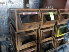 9 drawer metal parts bins.