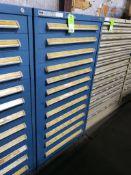 12 drawer Stanley Vidmar tool cabinet. 59tall x 30wide x 28 deep.