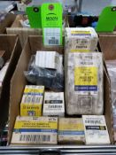 Large assortment of square D electric components. New in box.