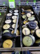 Large qty of dial indicators.