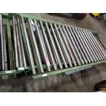 """Qty 3 - Roller conveyor sections. 110"""" long x 42"""" wide."""