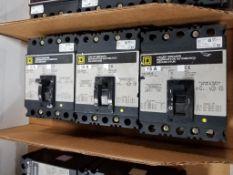 Qty 3 - Square D circuit breakers. Model FAL32015.