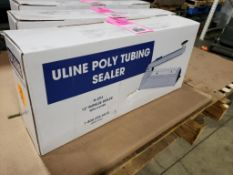 """Uline H-293 12"""" impulse sealer with cutter, poly tubing. New in box."""