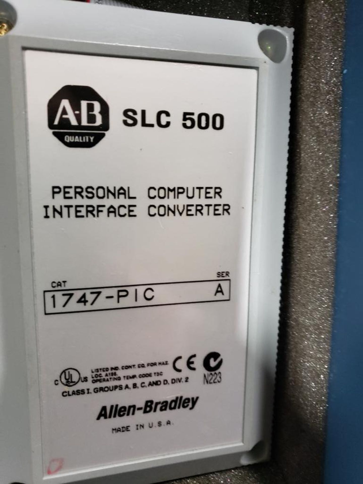 Allen Bradley SLC-500. Personal Computer Interface Converter 1747-PIC. - Image 6 of 6