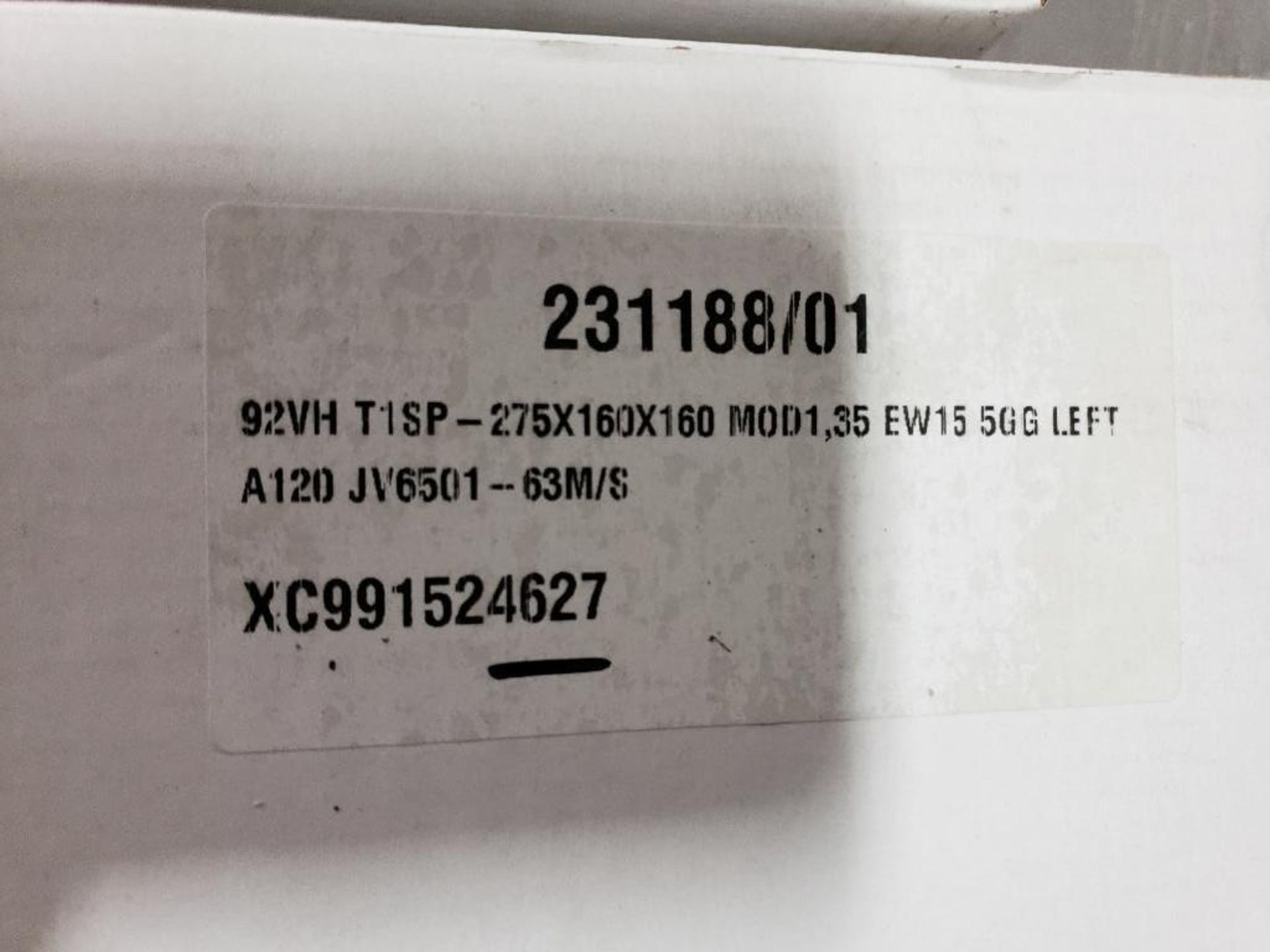 Qty 3 - 3M Abrasives grinding wheels XC991524627. 275x160x160 Mod1,35 EW15-5GG-Left. - Image 2 of 2