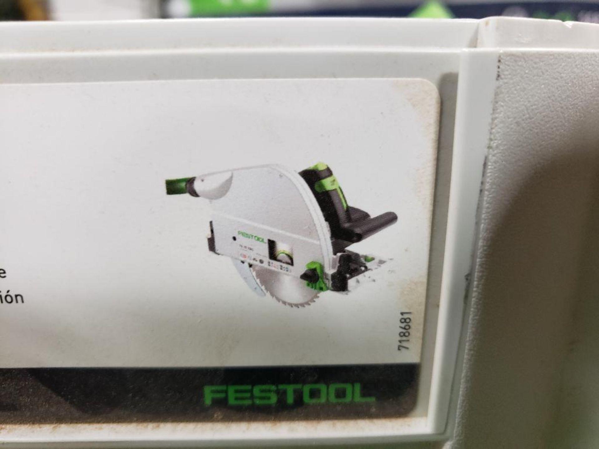 Festool TS75EQ-F-Plus USA Circular saw. 13AMP, 120V. - Image 7 of 7