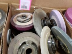 Assorted grinding wheels / abrasives.