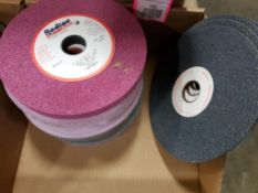 Assorted grinding wheels / abrasives. Radiac.