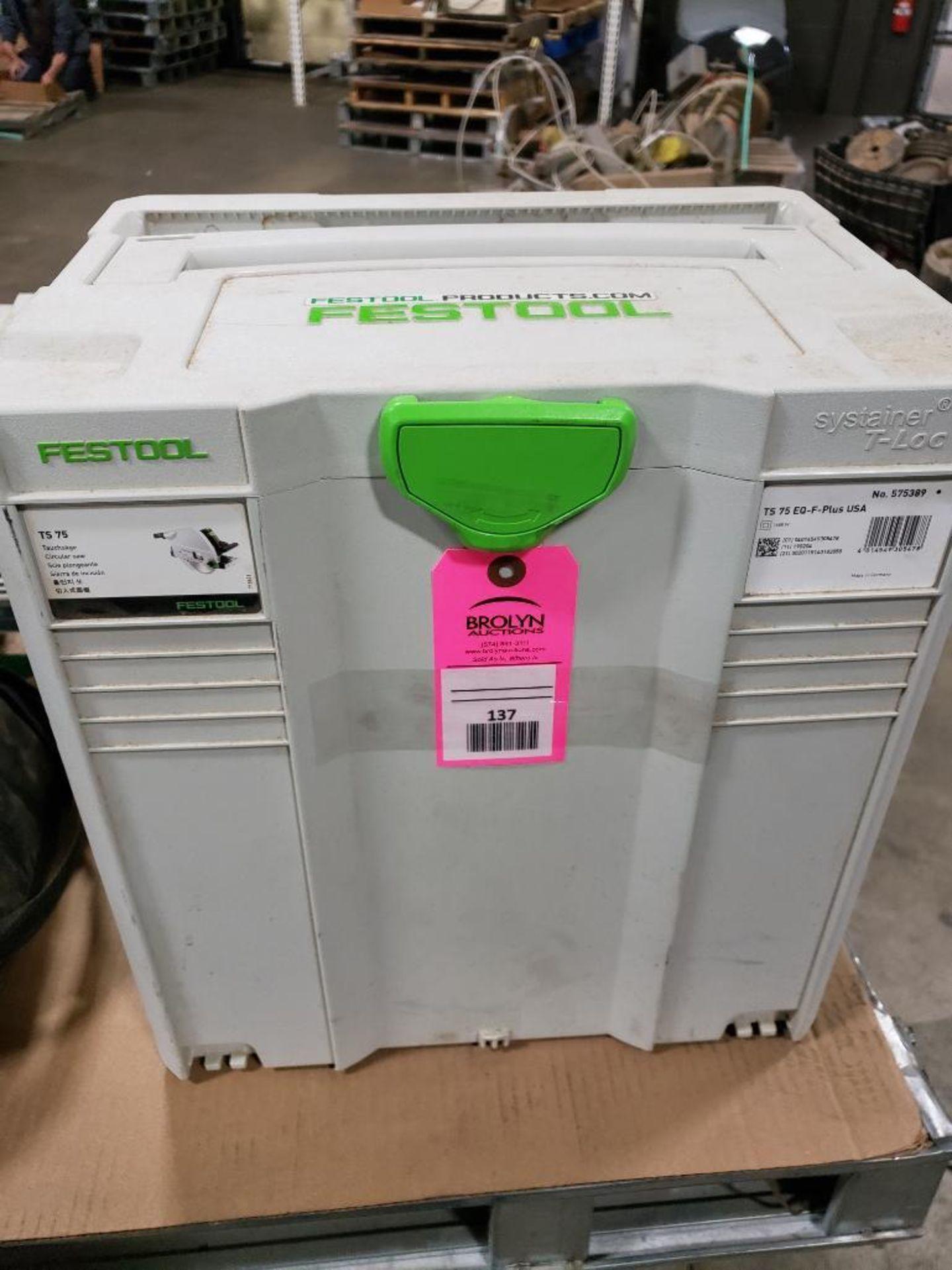 Festool TS75EQ-F-Plus USA Circular saw. 13AMP, 120V.