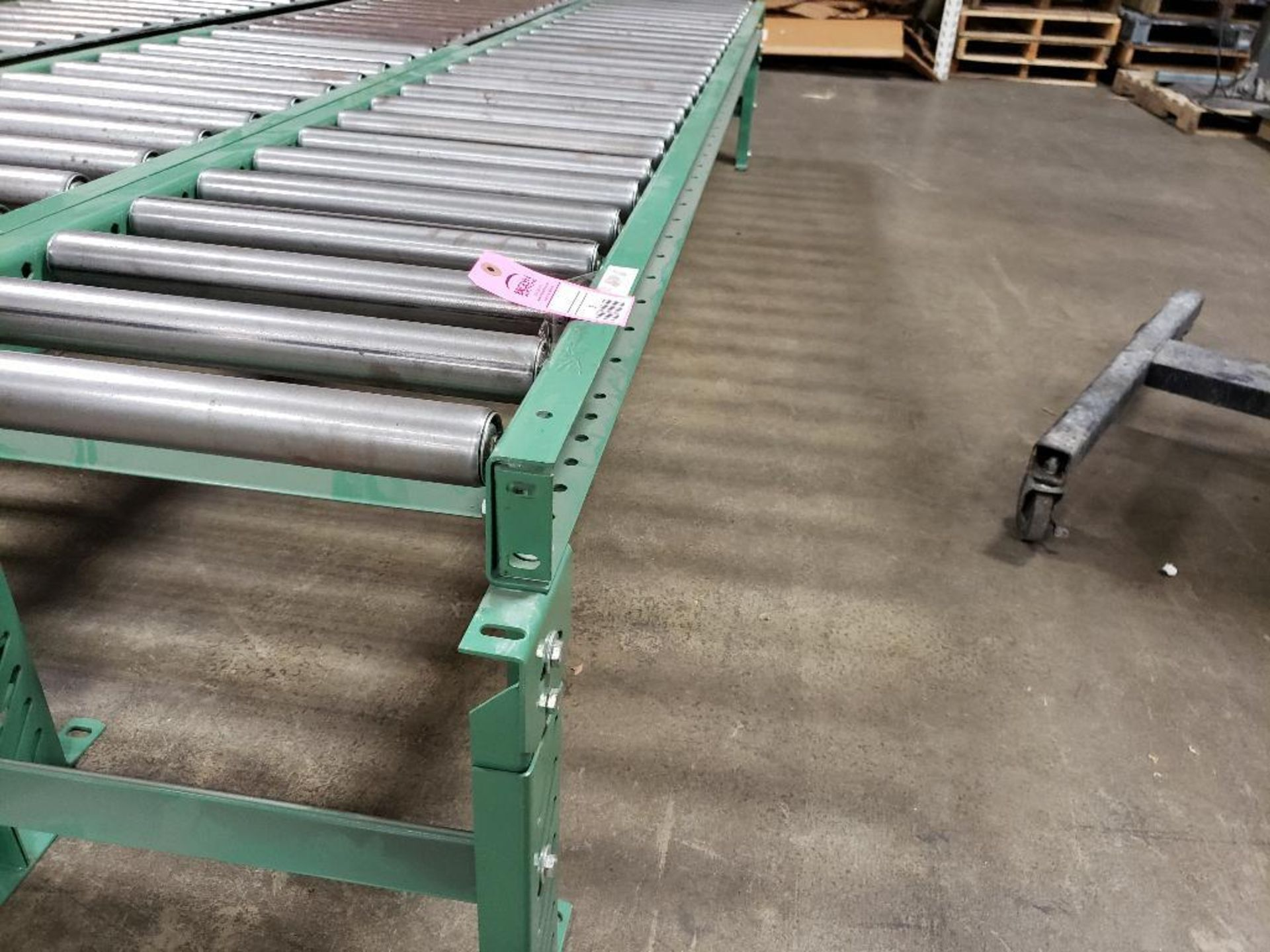 """Roller table 120"""" Long by 20"""" wide. - Image 2 of 2"""