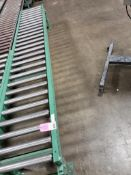 """Roller table 120"""" Long by 20"""" wide."""