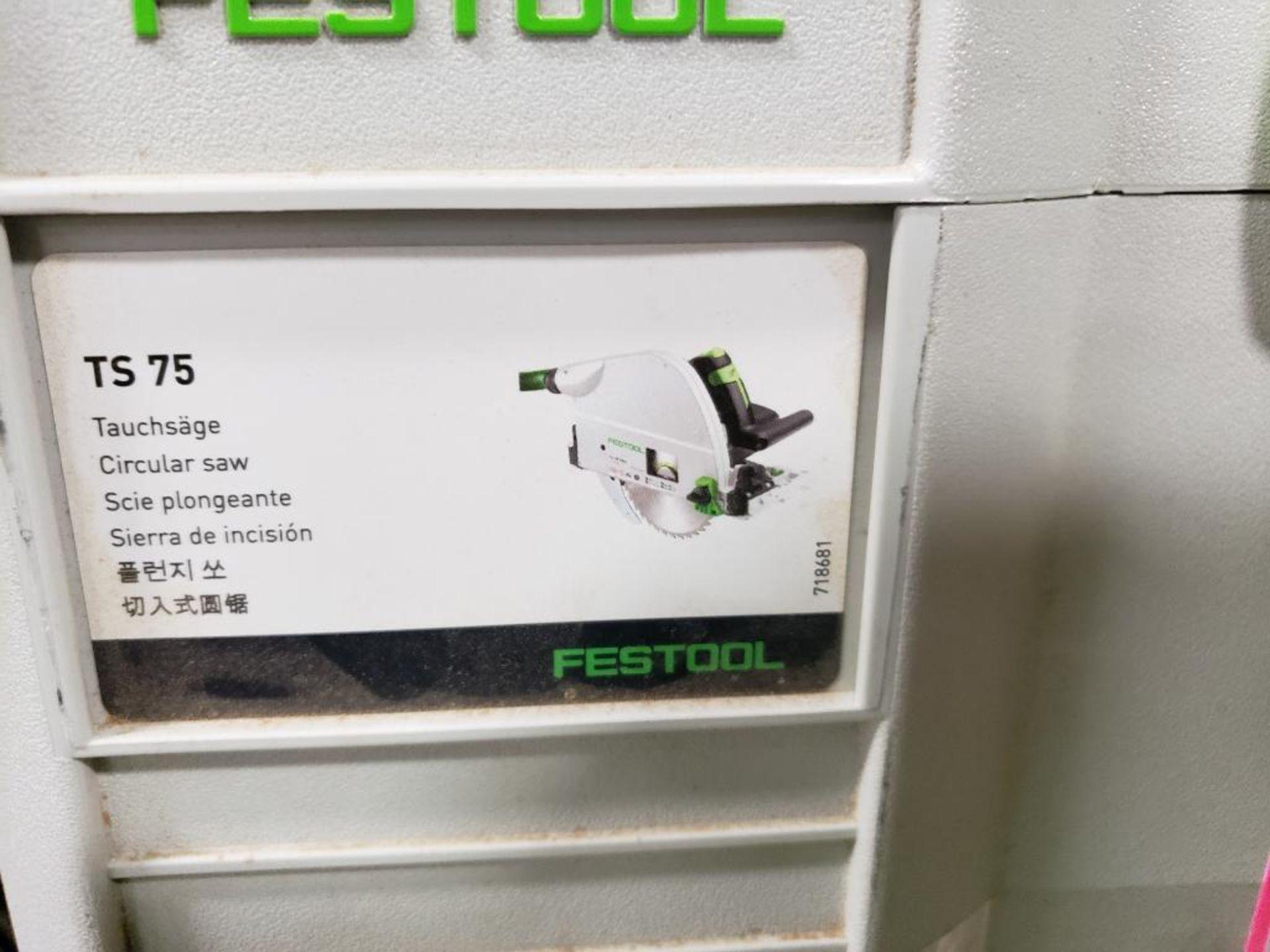 Festool TS75EQ-F-Plus USA Circular saw. 13AMP, 120V. - Image 2 of 7