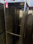 """Qty 2 - baking pan rolling rack. 20""""W x 72""""H x 27""""D."""