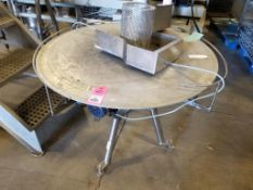 "40"" stainless rotary accumulation table."