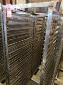 "Qty 2 - baking pan rolling rack. 21""Wx68""Hx26""D."