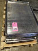 "Qty 40 - Baking sheet pan. 18"" W x 26"" D."