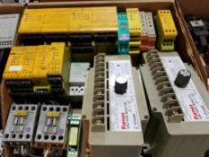 Assorted electrical. Allen Bradley, Pilz, Furnas.