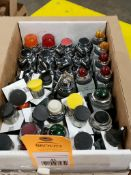large Qty of pushbutton, indicator light, and selector switches.