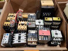 Assorted electrical contactors. Moeller, Allen Bradly, Telemecanique.