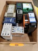 Assorted electrical. IDEC, Rhino, LFM, Lambda, Omron.