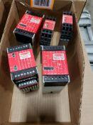 Assorted Banner Machine Safety relays.