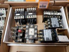 Assorted electrical contactors. GE, Matsushita.