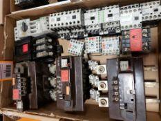 Assorted electrical contactors. Moeller, Sprecher+Schuh.