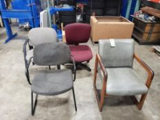 Qty 4 - Assorted work / Office chairs.